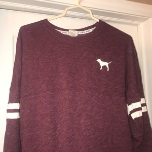 Victoria's Secret PINK crew neck - burgundy